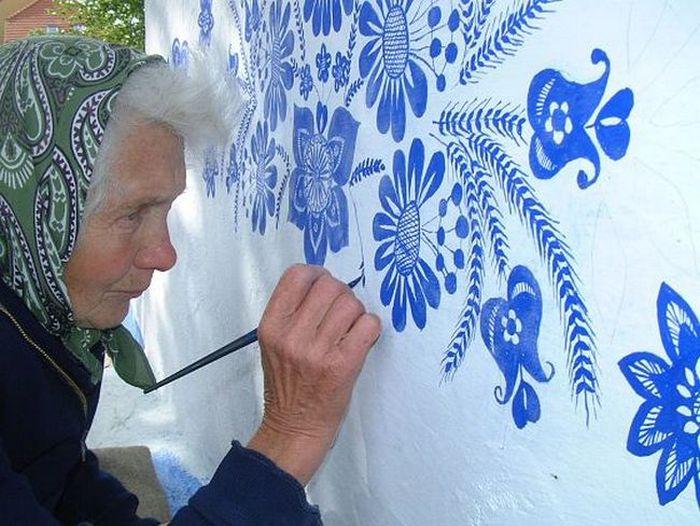 Анежка Кашпаркова - бабушка-художница.