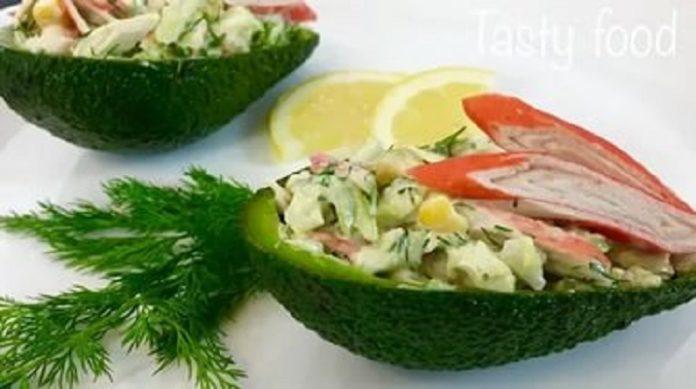 Самый вкусный салат с авокадо