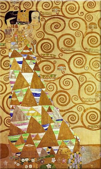 «Ожидание. Древо жизни. Упоение»: золотой шедевр Густава Климта