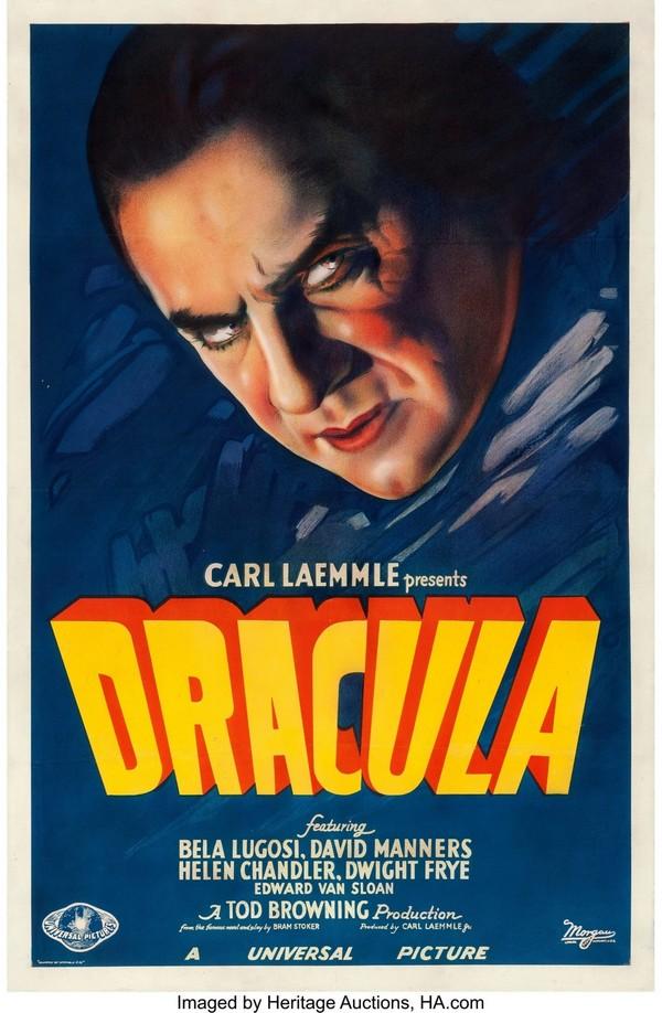Афиша к фильму «Дракула» 1931 года была продана с аукциона за 525.000$
