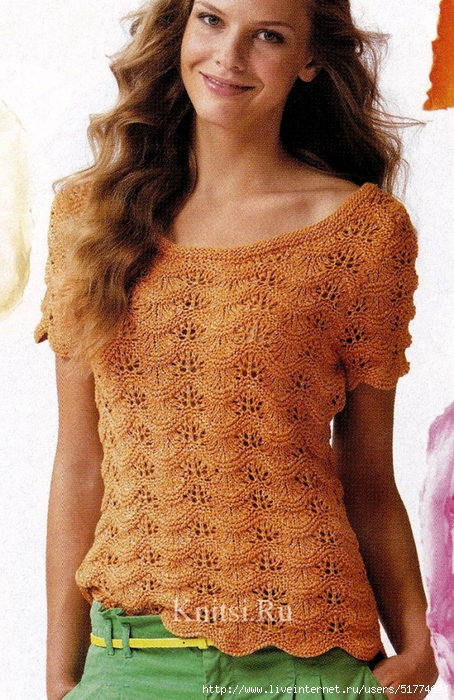 Нежный Ажурный Пуловер