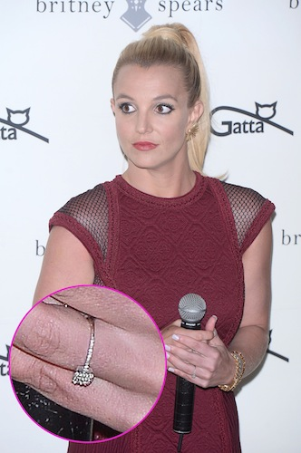 Is Britney Spears Engaged? See the Singer Sporting a Rock on THAT Finger!