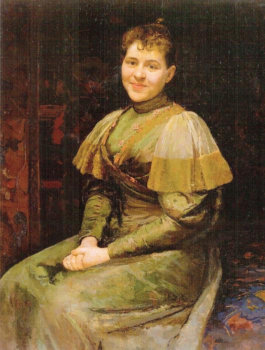 Пимоненко Портрет жены художника Александры Владимировны Пимоненко 1893 (531x700, 259Kb)