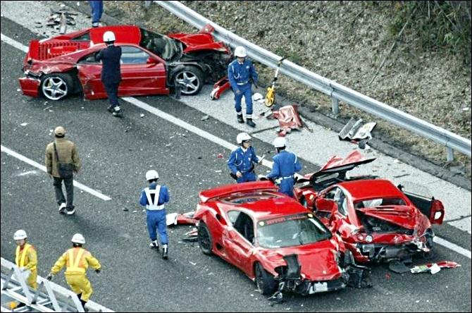 Самая дорогая автомобильная авария в мире...