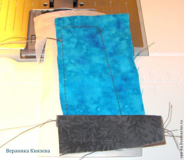 Лоскутная картинка в технике шитья по бумаге