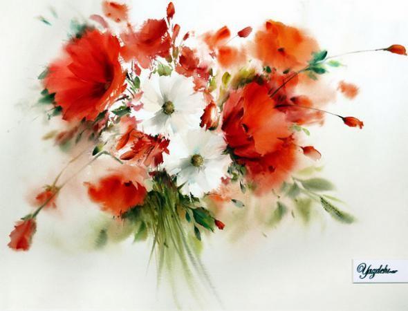"""Тема """"Цветочные картины от художника Mohammad Yazdchi"""" на сайте """"Краски мира"""" - МирТесен"""