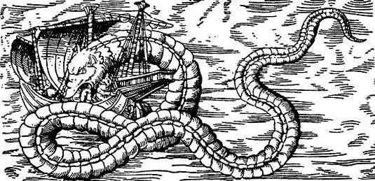 Гигантская морская змея