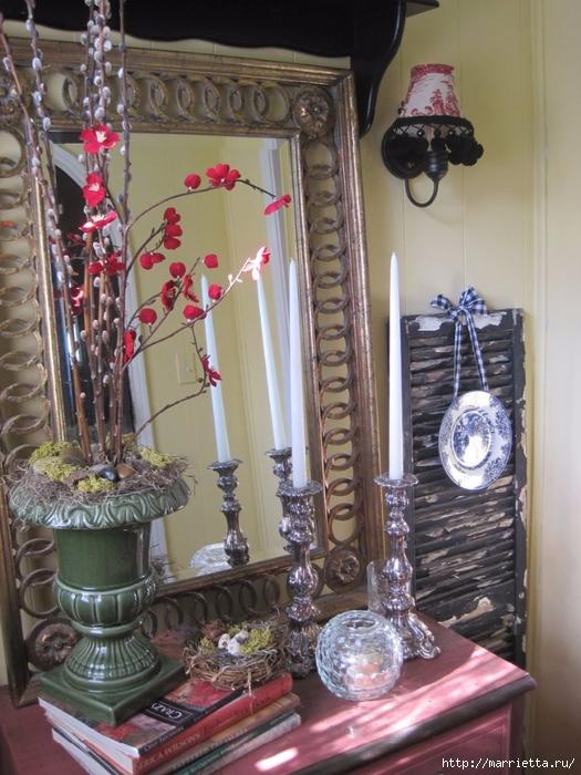 Живые веточки из искусственных цветов для украшения интерьера (10) (525x700, 301Kb)