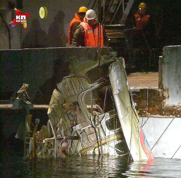 Поднят на сушу «черный ящик» затонувшего Ту-154