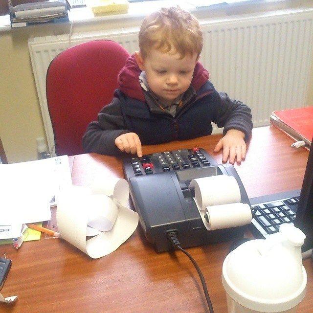 Я сегодня взял ребенка на работу...