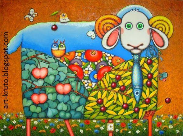 художник Алёна Крутоголова картины - 16