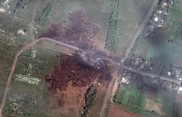 A-satellite-image-shows-the-crash-site-of-Malaysia-Airlines-flight-MH17-in-the-Ukraine-in-this-DigitalGlobe-handout-photo
