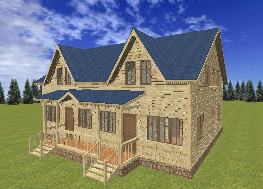 "Проект дома на две семьи ""Диада""."