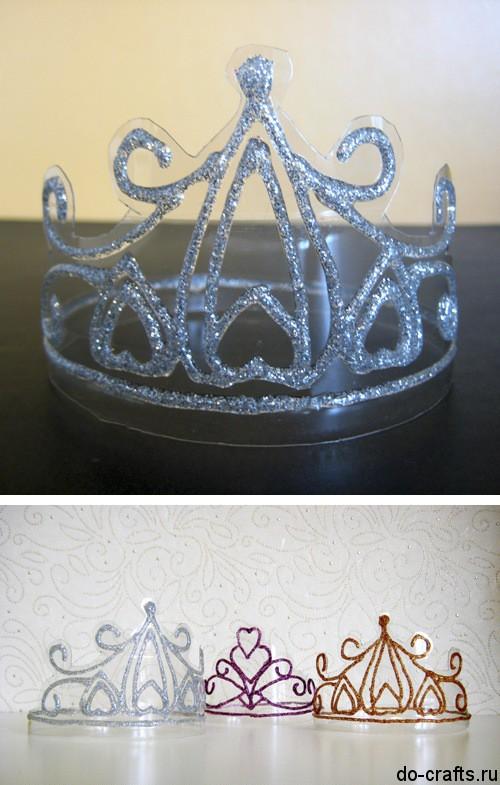 Как сделать корону снежной королевы из