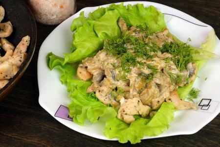 Фото к рецепту: Куриная грудка «монте карло»