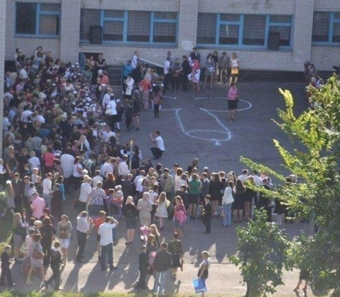 Учителя утверждали, что это - колокольчик... 1 сентября, первоклашки, прикол, ученики, фото, школа