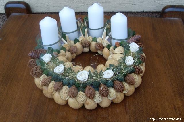 рождественский венок из грецких орехов (12) (640x426, 138Kb)