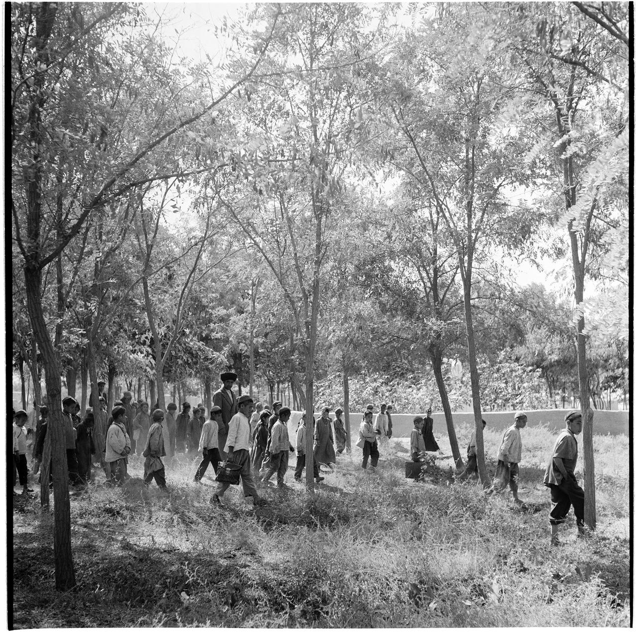 Туркмения. Школьники на прогулке