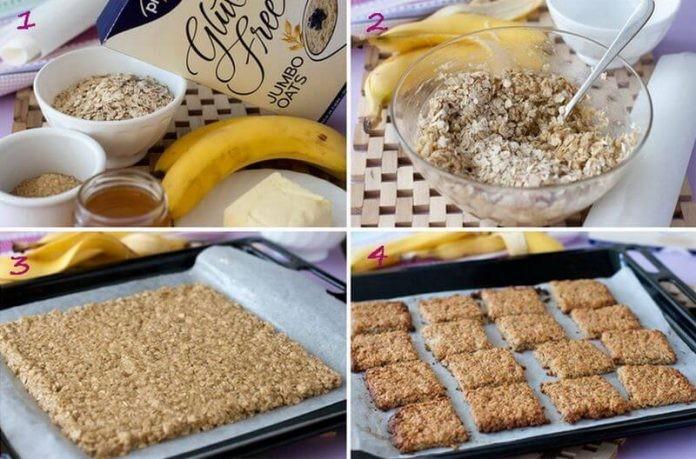 Самое быстрое и полезное банановое печенье за 15 минут!