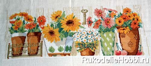 Вышивка солнечные цветы