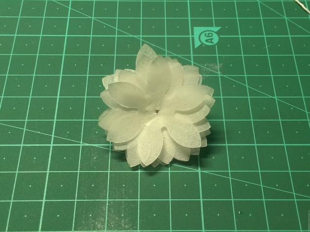 Цветы из кальки мастер класс