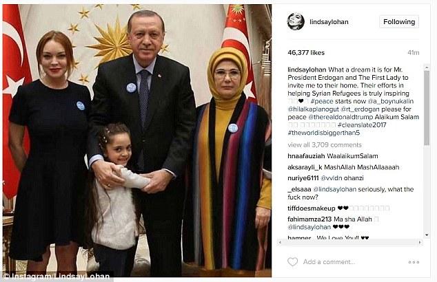 Линдси Лохан неожиданно воспылала любовью к исламским странам