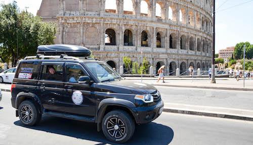 Ульяновцы совершили автопробег в Италию на автомобилях «УАЗ Патриот»