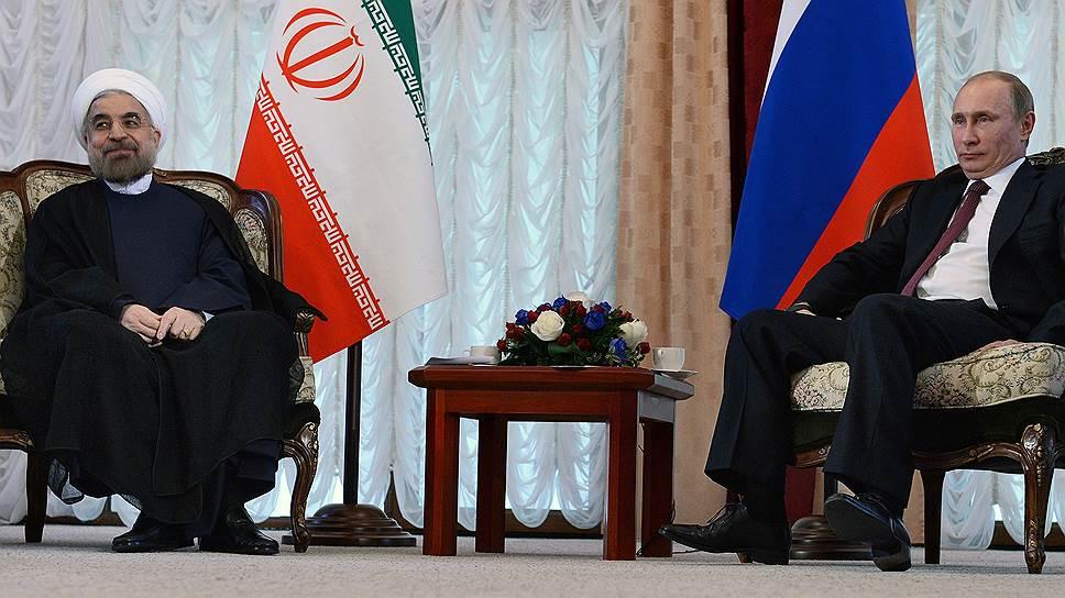 Президент Ирана Хасан Роухани и президент России Владимир Путин