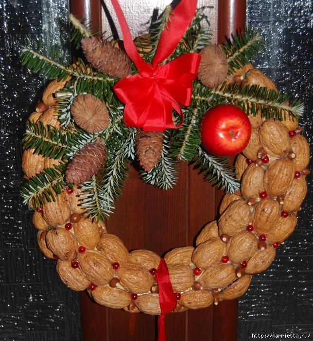 рождественский венок из грецких орехов (38) (644x700, 478Kb)