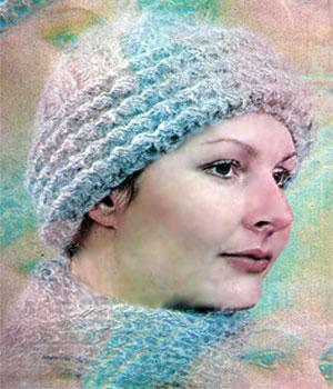 Шапочка с отворотом и шарфик
