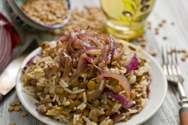 Муджадара: рис с чечевицей. Рецепт невероятно прост и также невероятно вкусен!