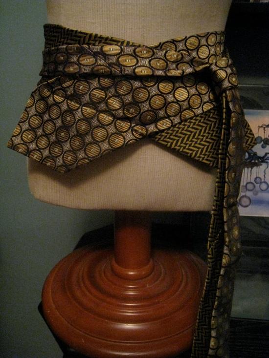Пояса - оби из мужских галстуков