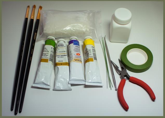 Эустома (лизиантус) из полимерной глины