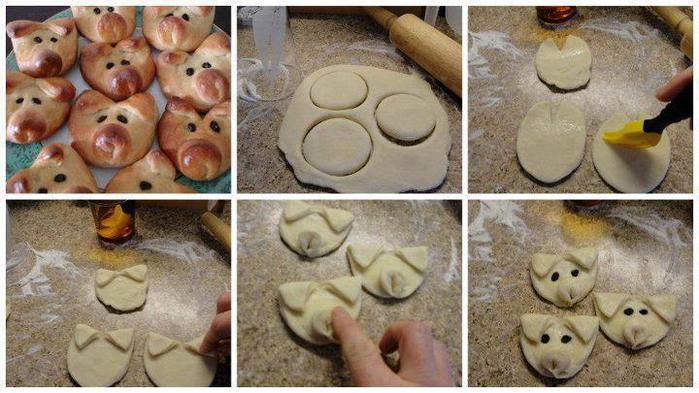 Как сделать из теста фигурки для булочек