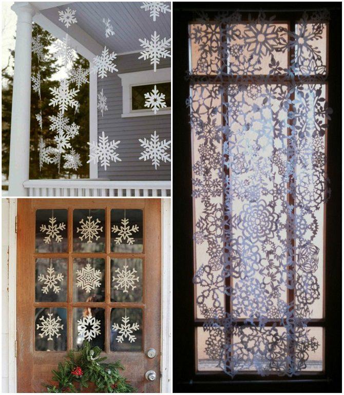 12 крутых идей, как украсить дом бумажными снежинками