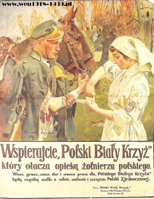 Плакат польского Белого Креста (что-то вроде международного Красного Креста, только польское и для поляков)
