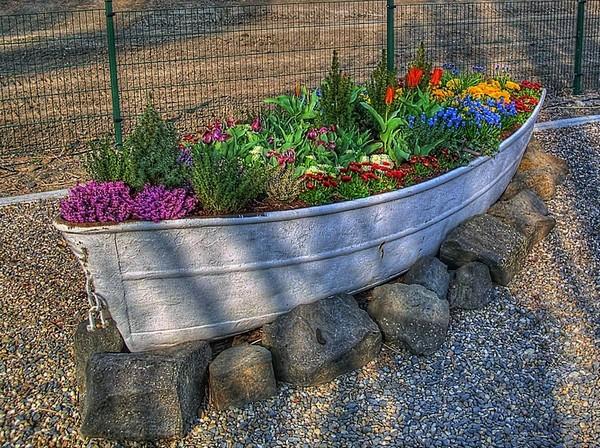 лодки в садиках