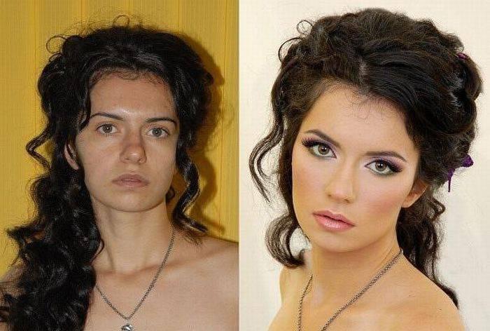 Изменение причёски и макияж