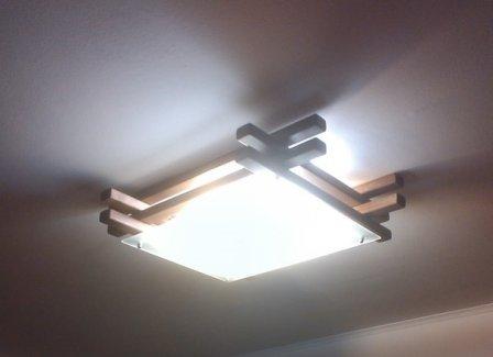Потолочный светильник своими руками - простая реализация