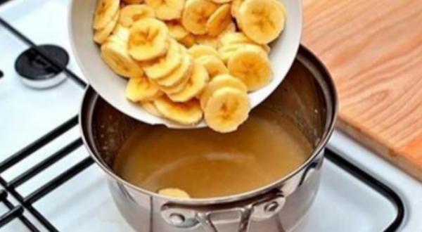 Банан, сваренный с корицей: …