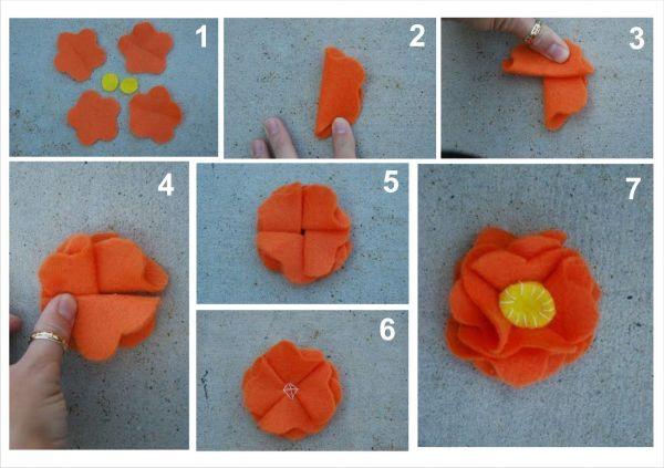Сделать схемы цветы из ткани своими руками