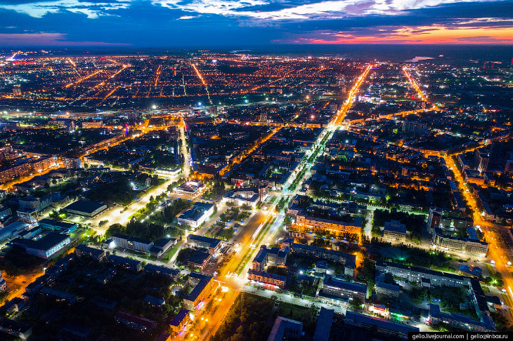 Барнаул с высоты: столица Алтайского края