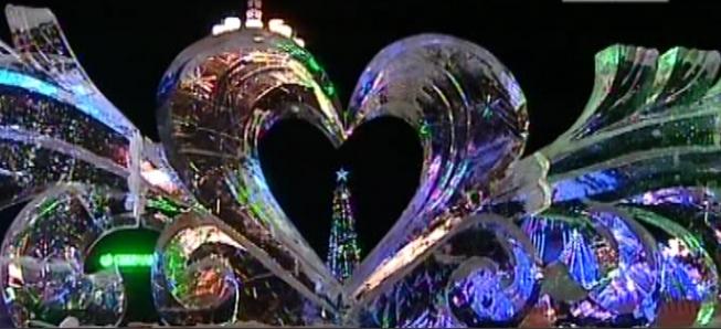 Новогодний городок удивительной красоты в Хабаровске
