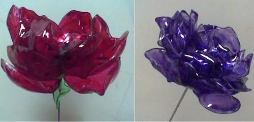 Цветы из бутылок своими руками пошагово для
