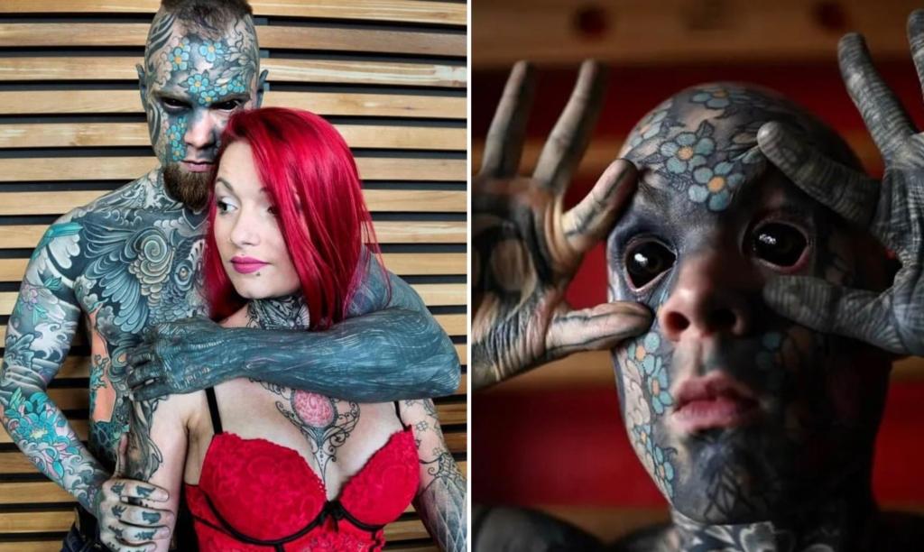 Учитель из Франции покрыл все тело татуировками и теперь его боятся все ученики в детском саду