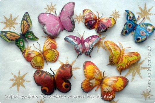 Мастер-класс Поделка изделие Декупаж Декупажные объёмные бабочки Бутылки пластиковые Краска Салфетки фото 1