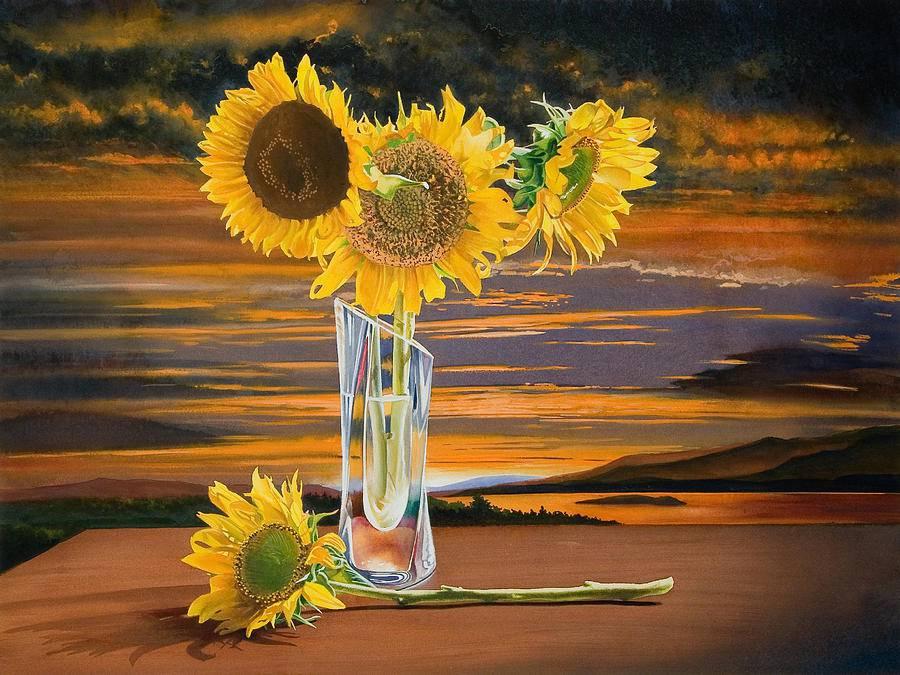 Цветы американского художникаGregory Van Raalte