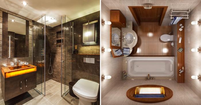 20 восхитительных идей по обустройству небольшой ванной комнаты в современном стиле