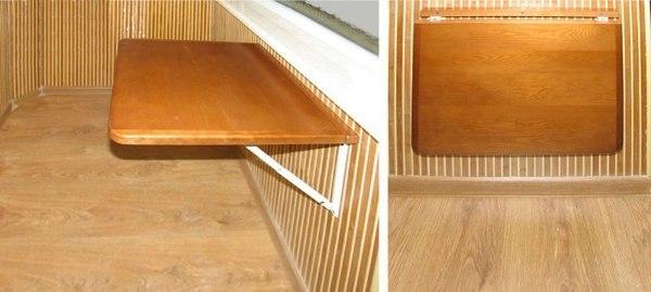 Как сделать своими руками откидной столик на балконе