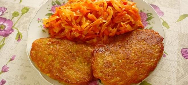 картофельные драники с морковью рецепт